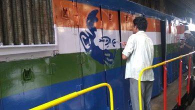 Photo of 150 वीं जयंती पर ट्रेनों में गांधी जी की छवि वाली इंजन